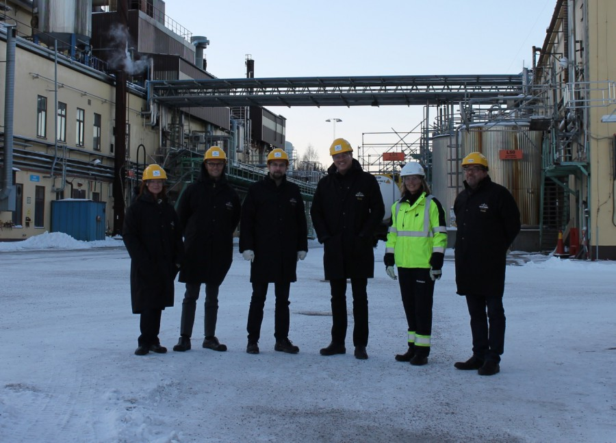 Fr. vänster Camilla Dübbel Hellberg, Petter Ekman, Hans Forsberg, Jonas Albecker, Åsa Sjöström och Anders Hedenius.